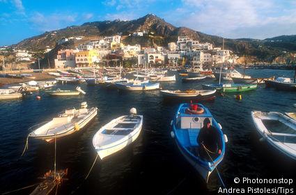 Campania, Ischia. Sant'Angelo. Harbour