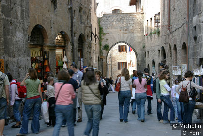 Dans la rue San Matteo.