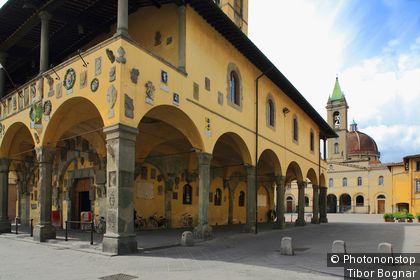 Italie, Toscane, San Giovanni Valdarno, Zone Méditerranéenne, Province de Arezzo - Palazzo Pretorio