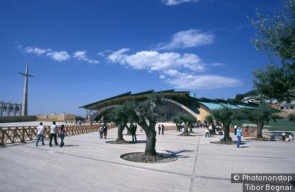 Italy, Apulia, San Giovanni Rotondo, Padre Pio church by Renzo Piano