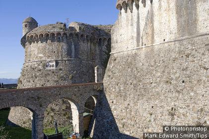 Italy, Liguria, Sarzana, Sarzanello castle, fortress