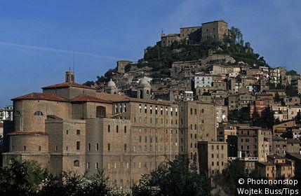 Italy, Lazio, Subiaco. The village