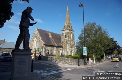 IRELAND, CLONAKILTY, statue of Michael Collins