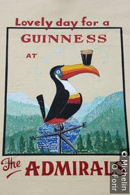 Publicité peinte de Guiness.