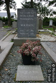 La tombe de William Butler Yeats.