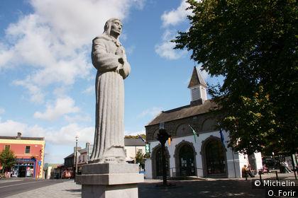 Sculpture érigée en mémoire de ceux qui ont péri à Cibbet Rath en 1798.