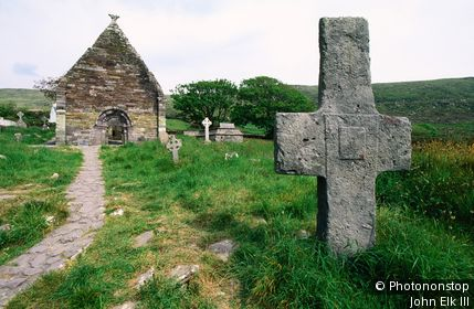 Kilmalkedar Church. Munster,County Kerry,Dingle Peninsula, Ireland,Republic of Ireland