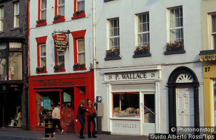 Ireland, Mullingar, shops and houses