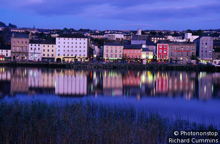 New Ross Town shimmers in the waters of the River Barrow, County Wexford