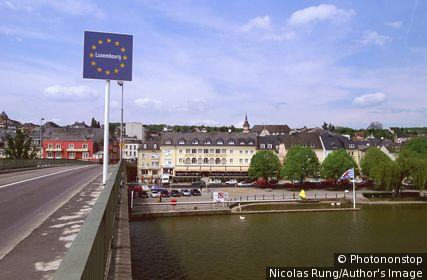 Luxembourg - Frontière avec l'Allemagne - Remich