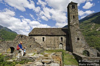 Switzerland, Val leventina, Giornico: Santa Maria del Castello church
