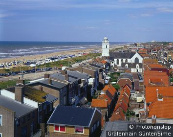 Pays-Bas, Hollande Méridional, Katwijk aan Zee, Benelux - View of beach