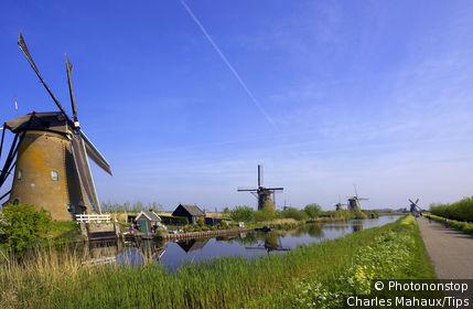 Europe, Netherlands, South Netherlands, Kinderdijk, windmills