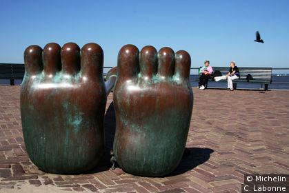 Détail du parc de sculpures réalisé par Théo et Lida Scholten