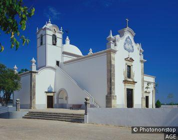 Portugal, Faro, Almancil, Algarve, Sao Lourenco Church in Almancil