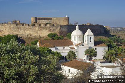 Portugal, Faro, Castro Marim, Algarve - Church and Knights Templar castle