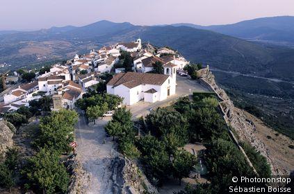 Village de Marvao, cité médiévale perchée.