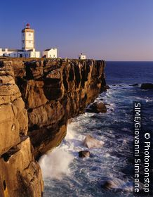 Cabo Carvoeiro, Peniche village, lighthouse. Portugal