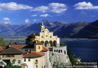 Locarno, the Franciscan Santuario della Madonna del Sasso. Suisse