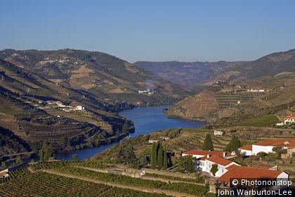Pinhao, Douro Valley, Portugal. Portugal, Douro Valley, Pinhao. Quinta Nova de Nossa Senhora do Carmo estate - the first wine hotel in Portugal. The region around Pinhão is considered to be the centre of Port wine