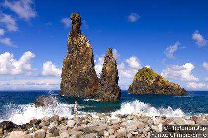 Portugal, Madeira, Madeira island, Porto Moniz, Ribeira da Janela, parish of Porto Moniz
