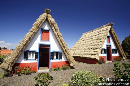 Madère, Santana, maisons traditionnelles