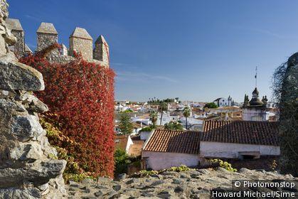 Portugal, Évora, Serpa, Alentejo - view from the Castle walls