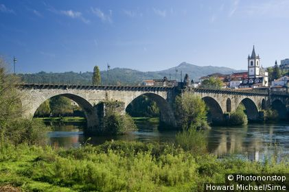 Portugal, Viana do Castelo, Ponte da Barca, Minho, Costa Verde - the mediaeval bridge
