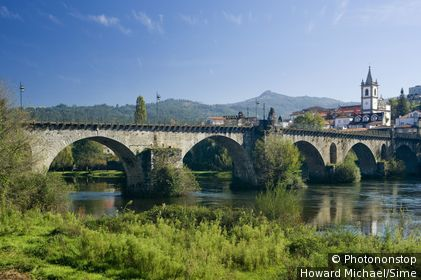 Ponte da Barca, Minho, Costa Verde - the mediaeval bridge.