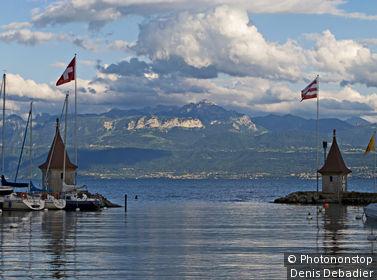 Suisse, canton de Vaud, Morges, lac Léman