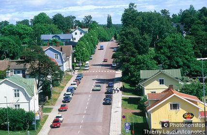 Finlande, îles d'Äland, Mariehamn, la route principale