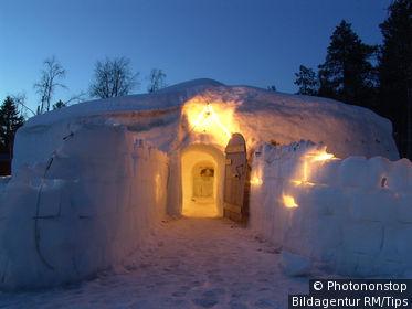 Eishotel von Harriniva bei Muonio, Europa,