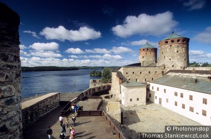 The Olavinlinna castle at Savonlinna lake, Karelia, Finland, Europe