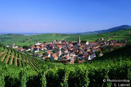 Niedermorschwihr, village entouré de vignes