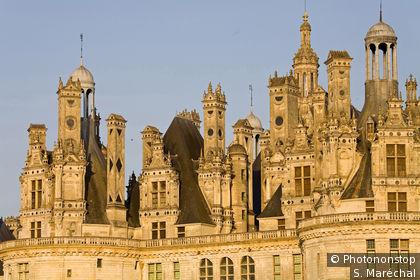 Castillo de Chambord al atardecer
