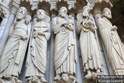 Cathédrale de Chartres, sculptures sur la porte nord