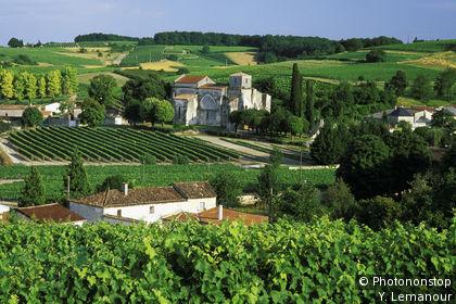 Castello di Bouteville tra i vigneti di Cognac