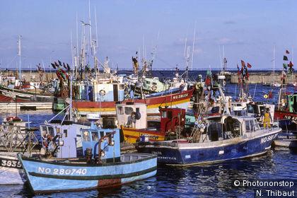 Porto peschereccio di Herbaudière sull'isola di Noirmoutier