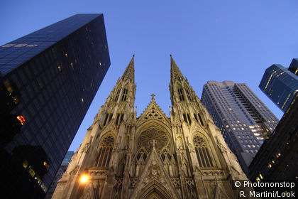 The Rockefeller Center and Saint Patrick's Cathedral, New York