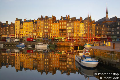 Honfleur port and town