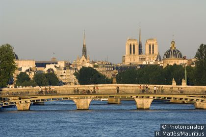 View of bridges and Notre Dame