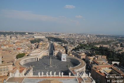 Saint Peter's Square, from the cupola