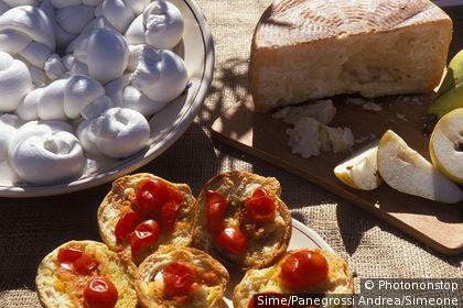 Bruschetta et mozzarella, Pouilles