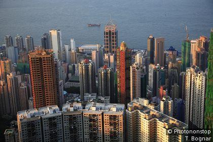 Bird's eye view of Hong Kong