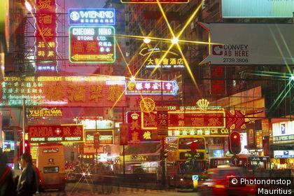 Night-time atmosphere in Hong Kong