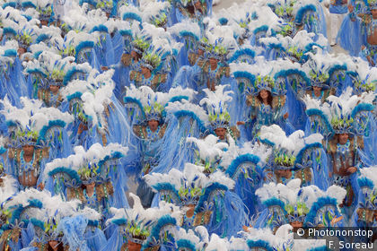 Crowd in costume for Rio Carnival