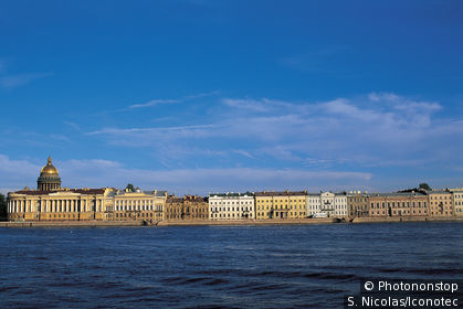 View of St Petersburg from the Neva