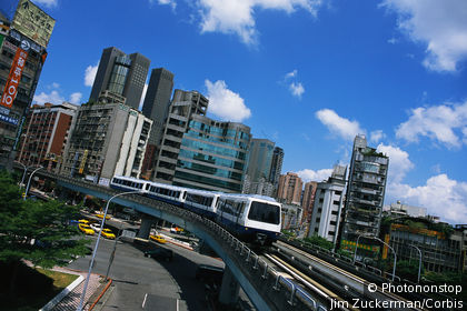 Elevated Railroad in Taipei