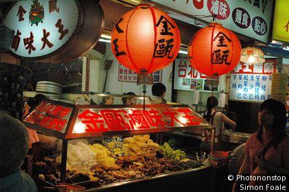 Food stall, Shida Night Market. Taipei, Taipei, Taiwan