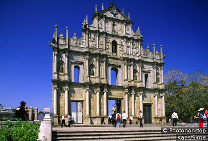 China, Macau, Macau City, The ruins of St.Paul church